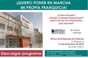 La consultora Barbadillo y Asociados con el Ayuntamiento de Madrid organizan una jornada de formación en franquicias para empresarios y autónomos