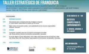 Barbadillo y Asociados en el Taller Estratégico de Franquicias